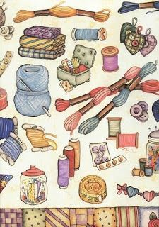 Laminas decoupage: laminas de costura