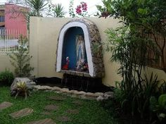 Exceptionnel Garden Grotto Designs Of Mother Mary   Design Garden Is Ideal For People  Who Live In The City But Need To Think About Crea