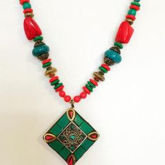 Aqua Ranchi Tribe Necklace