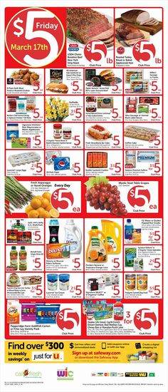 Safeway $5 Friday Ad March 17, 2017 - http://www.olcatalog.com/grocery/safeway-5-friday.html