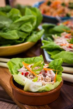 Chef Marcus Samuelsson makes Poached Chicken Lettuce Wrap with Ginger & Scallion  Sauce! #chicken #lettucewraps #healthy #ginger #asian #homeandfamily