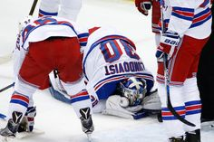 Henrik Lundqvist suffers a freak injury at the hands of his own...: Henrik Lundqvist suffers a freak injury at the… #PittsburghPenguins