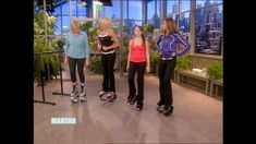 Beth Kruper, Jump Master trainer, shows Martha how to spring her way to a slim body with this Kangoo workout.