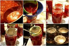 Mommy's Kitchen: Easy Homemade Strawberry Jam, site also has a good applesauce recipe and good info on canning the recipes.