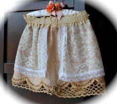 Boho Shabby Chic Skirt Girls Layered Lace and Tea Crochet on Etsy, $19.95