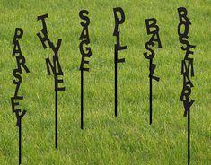 Set of 11 Herb markers Garden Marker by RusticaOrnamentals,+$70.00