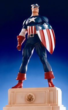 Captain America 1940's statue  Sculpted by: Randy Bowen    Release Date: October 1999  Edition Size: 2000  Order Of Release: Phase I (statue #4)