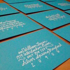 hand addresses envelopes