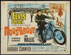 "Elvis Presley Movie Posters in ""Roustabout"" half sheet original vintage film poster.  Elvis Presley vintage memorabilia. See it at www.cvtreasures.com , Conway's Vintage Treasures"