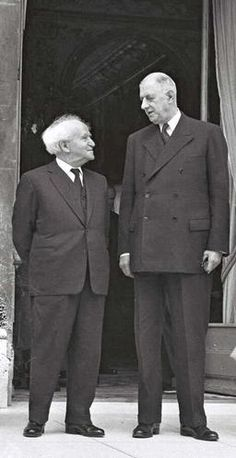 David Ben-Gurion with Charles de Gaulle during his official visit to France in June 1960.