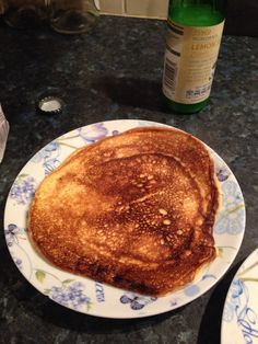 Syn free pancakes   2 eggs  Sweetener 6 tbsp  Vanilla essence   Seperate the egg whites. Add half the sweetener and whisk until they make stiff peaks.  Whisk the yolks together with the vanilla and the rest of the sweetener.  Fold the mixture together.   Fry with fry-lite.   Delish!!