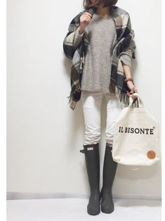 Winter Outfits, Casual Outfits, Tokyo Street Style, Fall Trends, Minimal Fashion, Scarf Styles, Style Me, Winter Fashion, Normcore