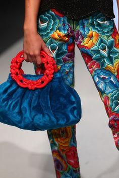 Colorful Prints - Meche Correa Fall 2013 Peru Moda. Photos provided by Getty.