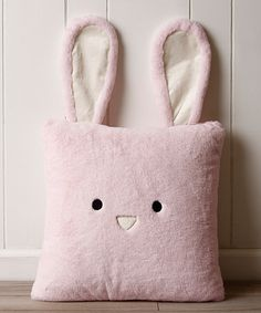 Look at this #zulilyfind! Pink Bunny Plush Faux Fur Pillow by Best Home Fashion #zulilyfinds