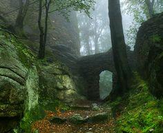 Karkonosze Mountains, Poland; Mysterious Castle