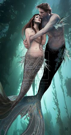 mermaid and merman