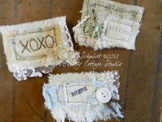 Snippets with words -  Shabby Cottage Studio - Blog.  No instructions, only inspiration.