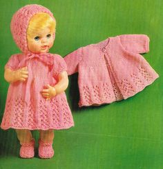 Dolls clothes knitting pattern for  14 & 16 by KnittingNannyMo, £1.75