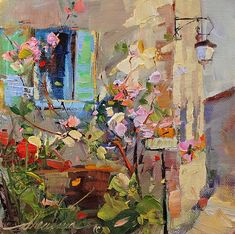 """Just+One+French+Window.....""+Oil+6""+x+6""+-+Sold"