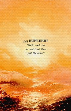 Aivazovsky | Said Hufflepuff, we'll teach the lot and treat them just the same | Pinning for completion's sake, yes, I know the artist misspelled the House name.