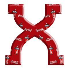 Sussurro de Amor: Alfabeto Coca cola Alphabet And Numbers, Alphabet Letters, Coke, Fun, Drinks, Christmas, Coca Cola Products, Hush Hush, Necklaces