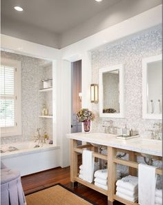 clean yet still charming. love the teeny tiny tiled walls.