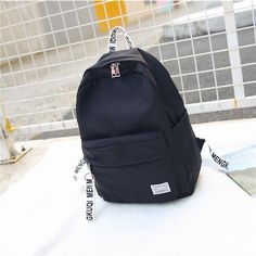 """Size: Width:29(CM)/11.42"""" Height:42(CM)/16.54"""" Thickness:13(CM)/5.12""""Color:Black/Gray/Pink/GreenMaterial:Nylon ClothStyle:Leisurely/School/Travel/Street/FreshFashion Element: Waterproof/Whole Color/Large Capacity/LetterCapacity: Can Hold 15 Inches Laptop,Ipad,Notebooks,Umbrella,Cellphone,Purse,ect.Internal Structure: Cute Backpacks For School, Trendy Backpacks, Boys Backpacks, College Backpacks, High School Bags, Cute School Bags, School Bags For Boys, Travel Backpack, Backpack Bags"""