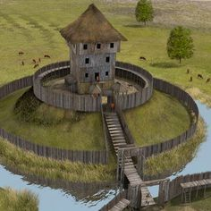 middle ages fifteenth to eighteenth century – Paul Becx Medieval Houses, Medieval Life, Medieval Castle, Medieval Fantasy, Landscape Concept, Fantasy Landscape, Fantasy Places, Fantasy World, Historical Architecture