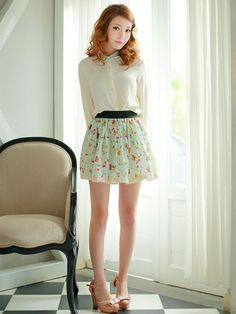 Mango Doll - Sweet Floral Skirt, $32.00 (http://www.mangodoll.com/all-items/sweet-floral-skirt/)