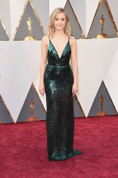 Pin for Later: See the Oscars Red Carpet Looks Everyone's Still Talking About Saoirse Ronan Wearing a custom Calvin Klein Collection dress and Chopard jewels.