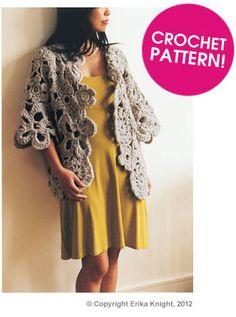 Free Pattern ~ Erika Knight Asymmetrical Cardigan. Great PDF freebie, yay. Thanks so for share xox