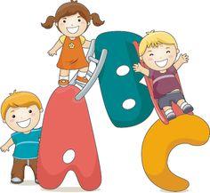 ABC con niños para imprimir