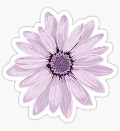 'Purple Daisy' Sticker by Zipzadoo – Car stickers Stickers Cool, Cute Laptop Stickers, Bubble Stickers, Phone Stickers, Journal Stickers, Printable Stickers, Planner Stickers, Free Printable Stationery, Purple Daisy