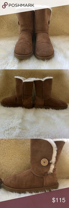 Bailey Button Practically new, used once with normal signs of gentle use. Soles are in great condition. No smells. No box . Authentic. UGG Shoes Winter & Rain Boots