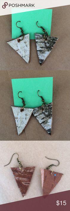 HOST PICK Handmade Birch Bark Earrings Super unique and adorable handmade birch bark earrings. Handmade Jewelry Earrings