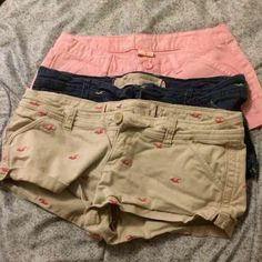 Hollister short bundle Two Hollister shorts and 1 Missimo pink short (NWOT). All are size 5. Only flaw is the slight fading on the blue Hollister pair from washing. Perfect otherwise. Price firm, I am offering these at a 1/3 of what I paid. (: No holds and NO trades. 🎀 Hollister Shorts Jean Shorts