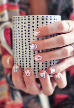 Cute Dotted Nails
