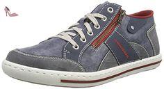 Rieker 19650, Sneakers Basses Homme, Gris (Anthrazit/Kastanie), 40 EU