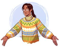 Cecil in a dorky sweater :3
