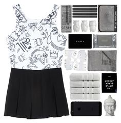 """Monochrome"" by fashionlover2157 ❤ liked on Polyvore featuring Monki, Civil, Tom Dixon, NARS Cosmetics, Christy, Acne Studios, Jeffrey Campbell, Dermalogica, monochrome and fashionset"