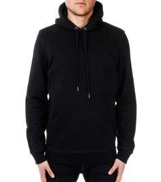 #Diesel Black Hooded Solid #Sweatshirt
