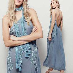 AZUL Embroidered Maxi Dress