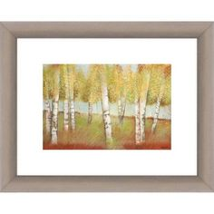 Pillars of the Forest 12.5 inch x 10 inch Wall Art, Beige