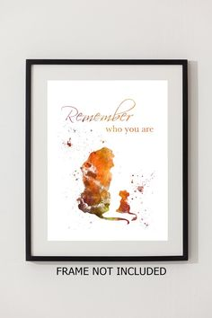 Kunstdruck der König der Löwen Zitat 'Erinnern wer Sie