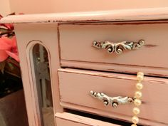 Upcycled Jewelry Box Distressed Painted in by TreasuresbyMarylou