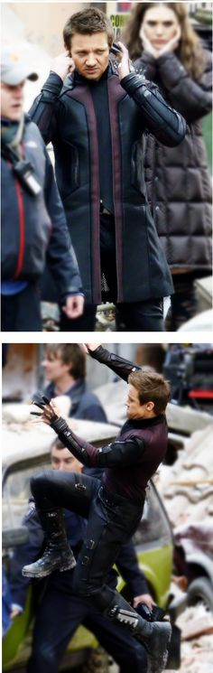 Taking a brief moment to admire Hawkeye's Avengers 2 costume. Nice.