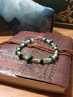 jasper-and-malachite-bracelet #bracelets #malachite #gold #jasper #green beads