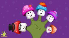 The Finger Family Mushroom Family Nursery Rhyme | Mushroom Finger Family Songs