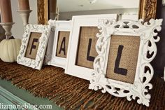 DIY Framed Burlap letters & more fall Decor I would maybe use the words love or family Burlap Letter, Framed Burlap, Framed Letters, Wooden Letters, Fall Projects, Diy Projects, Diy Love, Happy Fall Y'all, Diy Frame