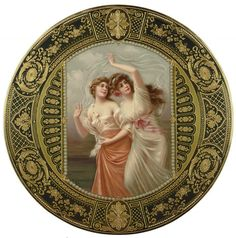 Wagner , Royal Vienna Porcelain (Austria) —  Scenic  Plate 'On The Run'  (1088×1099)